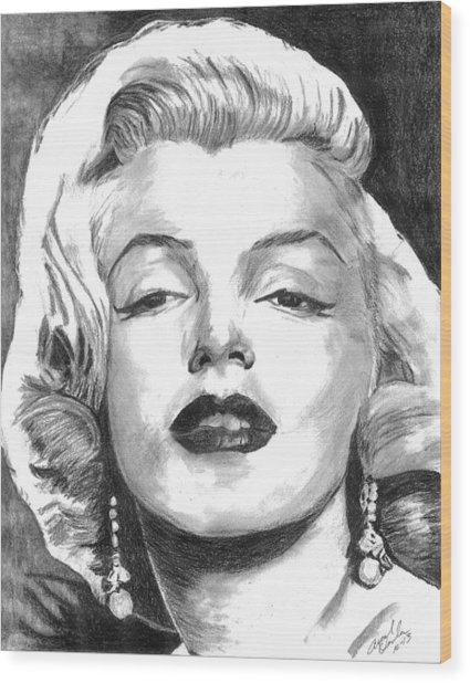 Marilyn Wood Print by Ariel Davila