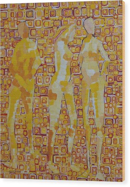 Mary Gestured Thrice Wood Print