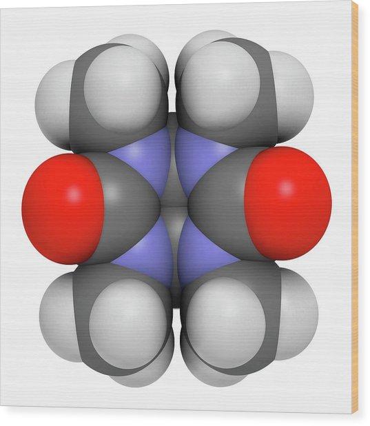 Mebicar Anxiolytic Drug Molecule Wood Print by Molekuul