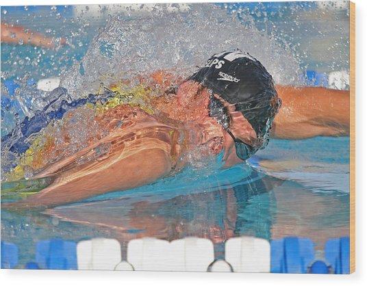 Michael Phelps Wood Print