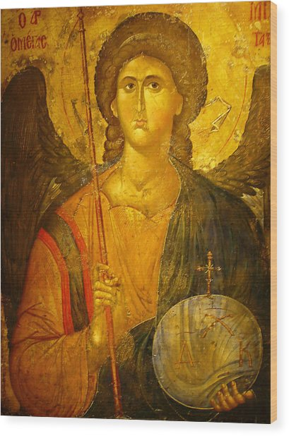 Michael The Archangel Wood Print