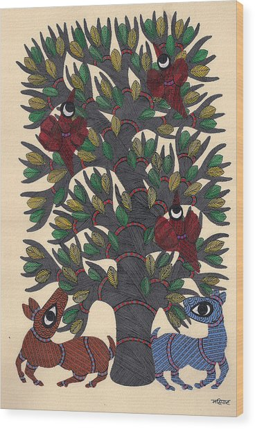 Miniature  Painting - Mughal Wood Print