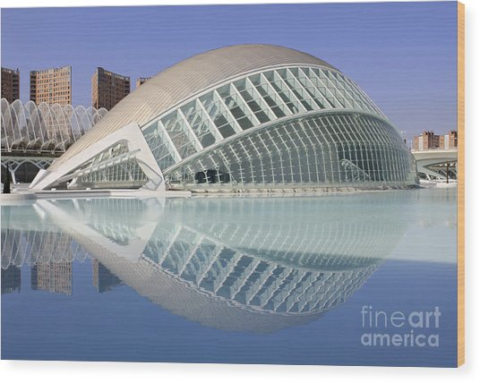 The Hemisferic In Valencia Spain Wood Print