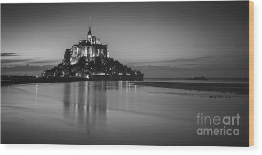 Mont-st-michel Normandy France Wood Print