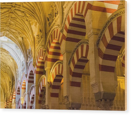 Mosque Cathedral Of Cordoba  Wood Print by Andrea Mazzocchetti