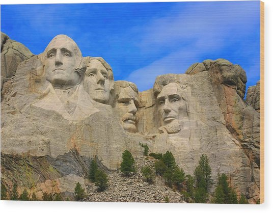 Mount Rushmore South Dakota Wood Print