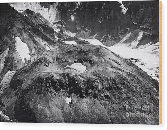 Mt St. Helen's Crater Wood Print