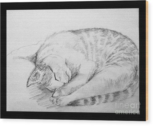 My Pet Cat Wood Print