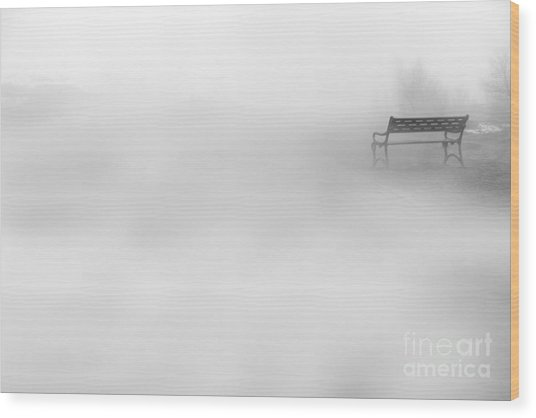 Mystic Bench Wood Print