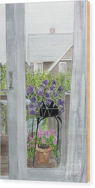 Nantucket Room View Wood Print