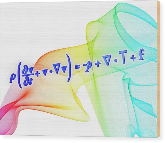 Navier-stokes Equation Wood Print by Alfred Pasieka