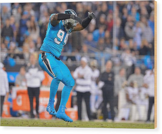 New Orleans Saints V Carolina Panthers Wood Print by Grant Halverson