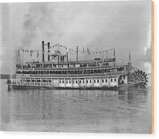 New Orleans Steamboat Wood Print by Granger