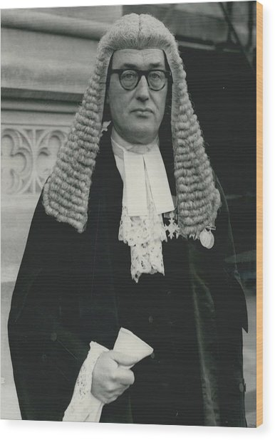 New Queen�s Counsel Sworn - In At House Of Lords Wood Print by Retro Images Archive