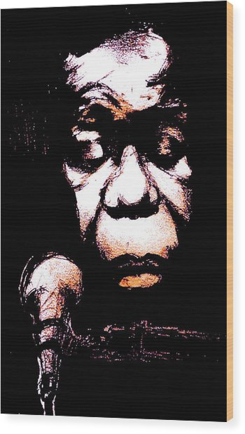 Nina Simone Wood Print by Will  Carlson