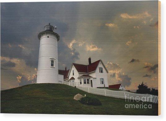 Nobska Lighthouse Color  Wood Print