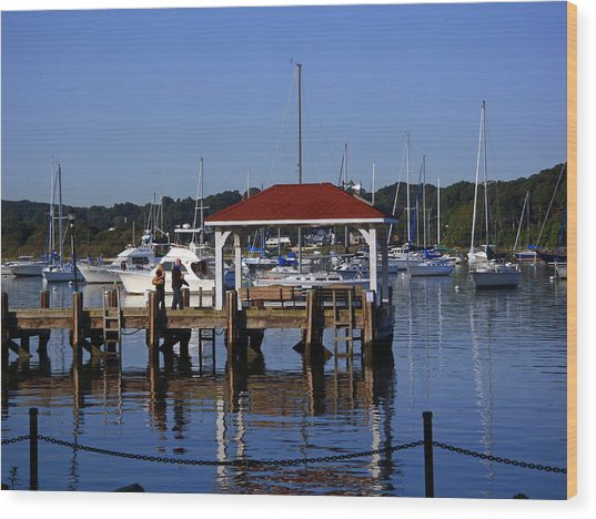 Northport Dock Wood Print