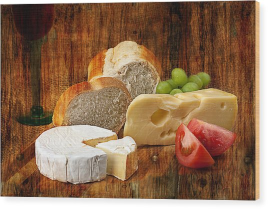 Norwegian Jarlsberg And Camembert Wood Print
