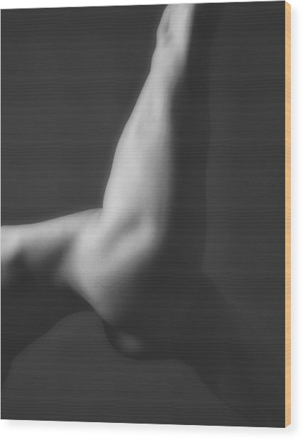 Nude Yoga Wood Print