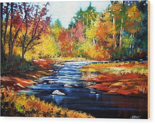 October Bliss Wood Print
