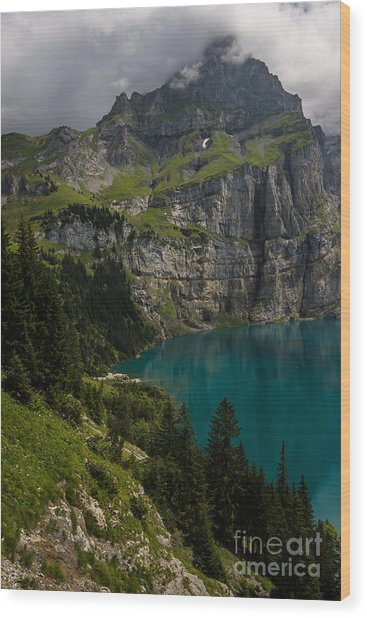 Oeschinensee - Swiss Alps - Switzerland Wood Print