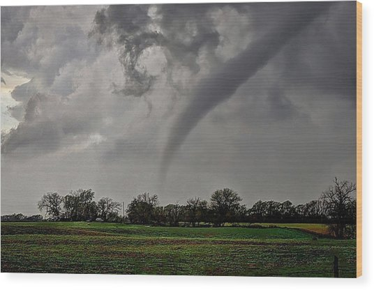 Oklahoma Swirl Wood Print