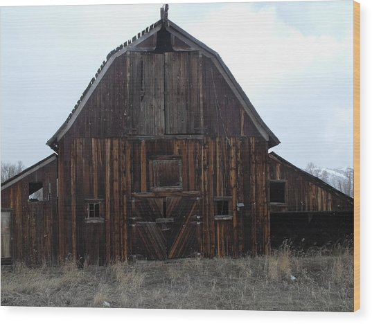 Old Barn Wood Print by Yvette Pichette