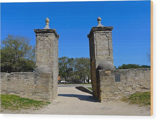 Old City Gates Of St. Augustine Wood Print