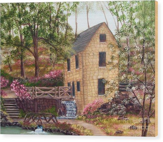 Old Mill North Little Rock Arkansas Wood Print