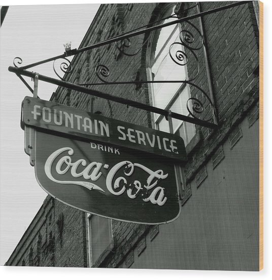 Old Sign Wood Print