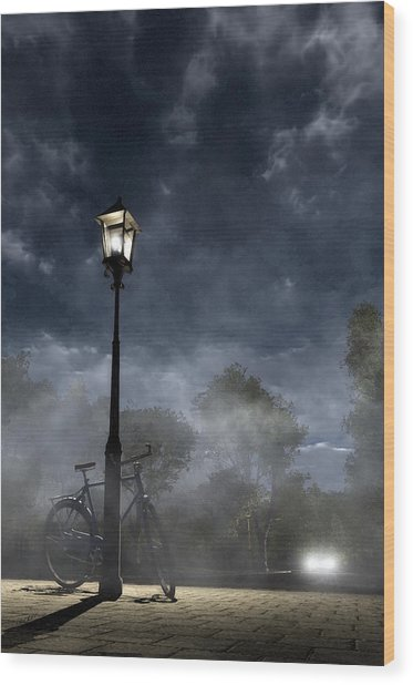 Ominous Avenue Wood Print