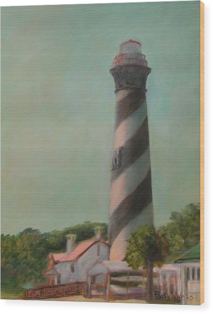 One Day At The St. Augustine Lighthouse Wood Print
