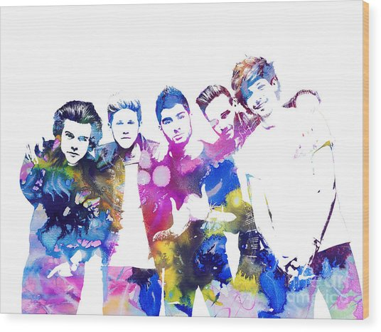 One Direction Wood Print