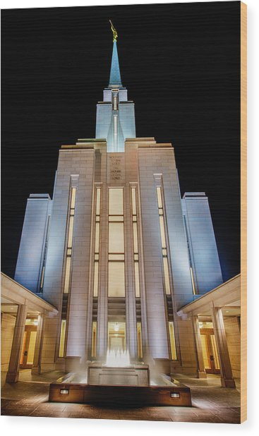 Oquirrh Mountain Temple 1 Wood Print