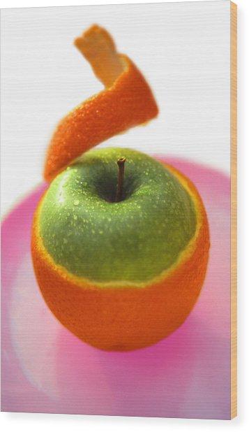 Oranple Wood Print
