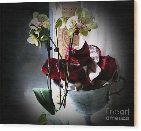 Orchids Wood Print by Jinx Farmer