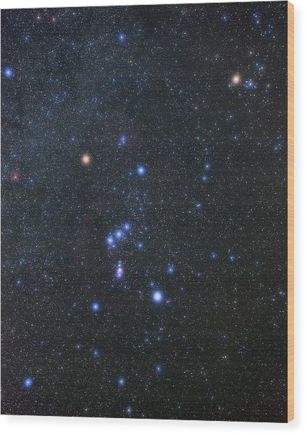 Orion Constellation Wood Print by Eckhard Slawik/science Photo Library