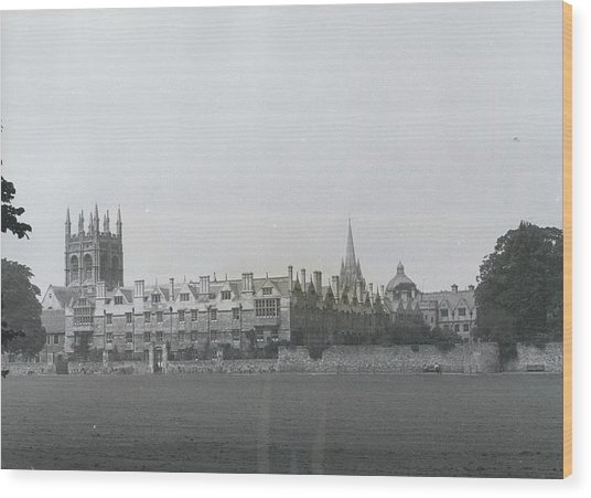 Oxford University, England Wood Print by Retro Images Archive