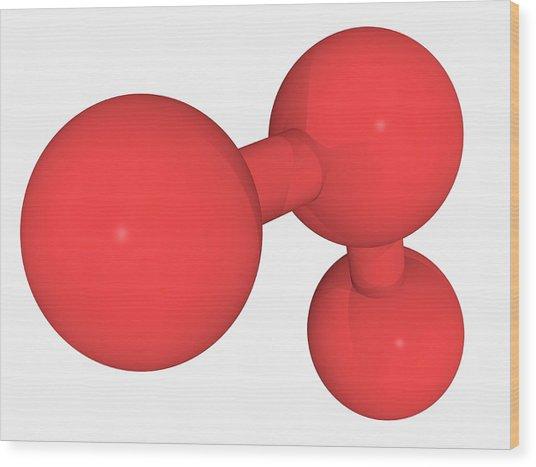Ozone Oxygen Molecule Wood Print by Laguna Design/science Photo Library