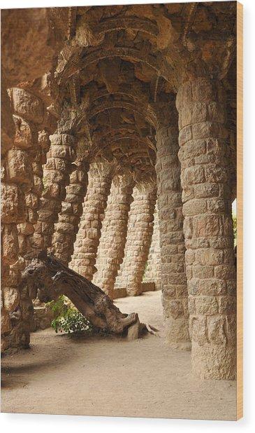 Park Guell Barcelona Spain Wood Print