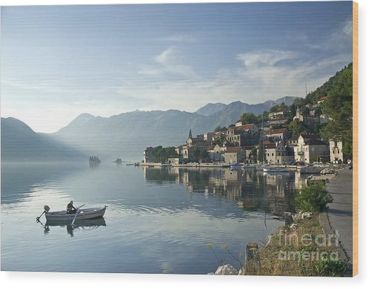 Perast Village In Montenegro Wood Print