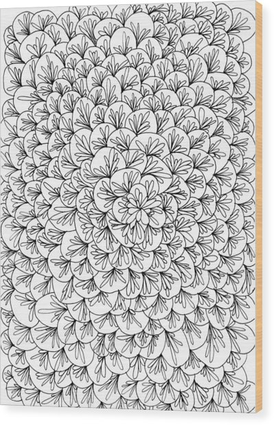 Petals Wood Print by Yvette Pichette