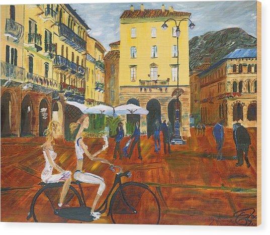 Piazza De Como Wood Print by Gregory Allen Page
