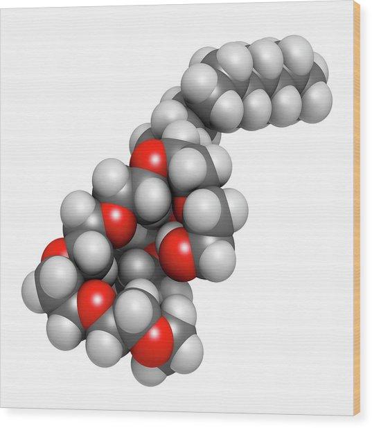 Polidocanol Sclerosant Drug Molecule Wood Print by Molekuul