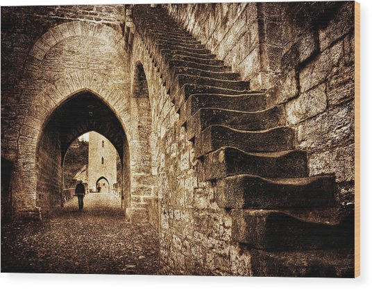 Wood Print featuring the photograph Pont Valentre / Cahors by Barry O Carroll