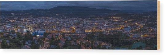 Pontevedra Panorama From A Caeira Wood Print