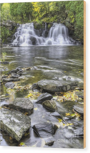 Powerhouse Falls Wood Print by Twenty Two North Photography