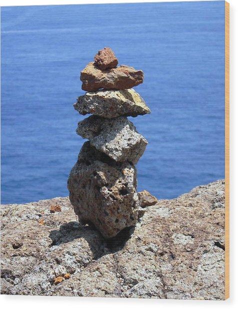 Prayer Stones Wood Print