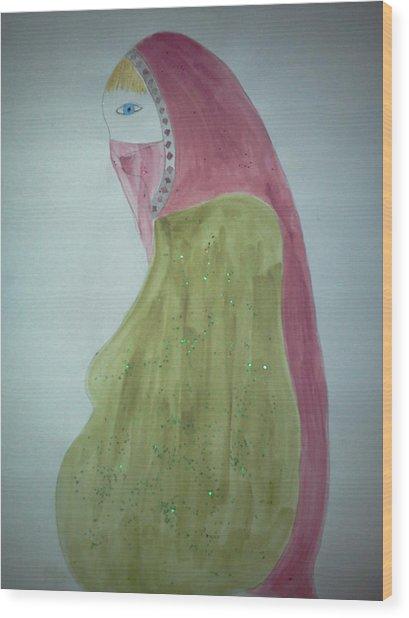 Praying Woman Wood Print by Karen Jensen