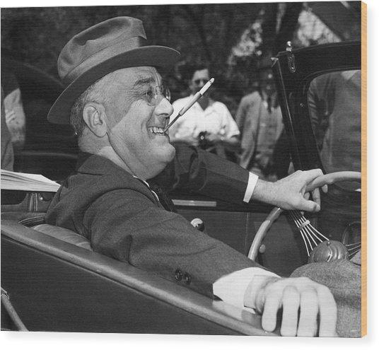 President Franklin Roosevelt Wood Print
